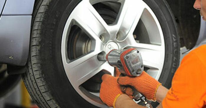 Audi A4 b7 2.0 TDI 16V 2006 Disques De Frein remplacement : manuels d'atelier gratuits