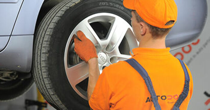 How to replace AUDI A4 Avant (8ED, B7) 2.0 TDI 2005 Brake Discs - step-by-step manuals and video guides