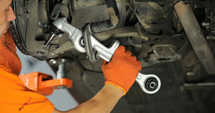 Changing of Control Arm on Audi A4 b7 2007 won't be an issue if you follow this illustrated step-by-step guide