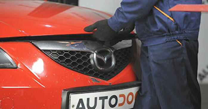 Wymiana Filtr powietrza Mazda 3 bk 2003 - darmowe instrukcje PDF i wideo
