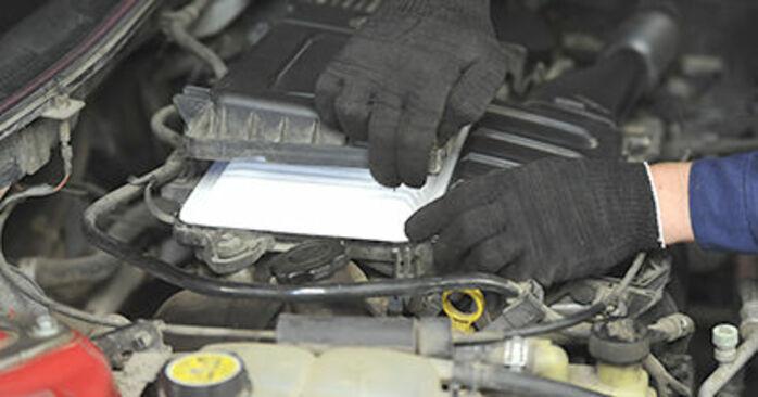 Ile czasu zajmuje wymiana: Filtr powietrza w Mazda 3 bk 2004 - pouczająca instrukcja w formacie PDF