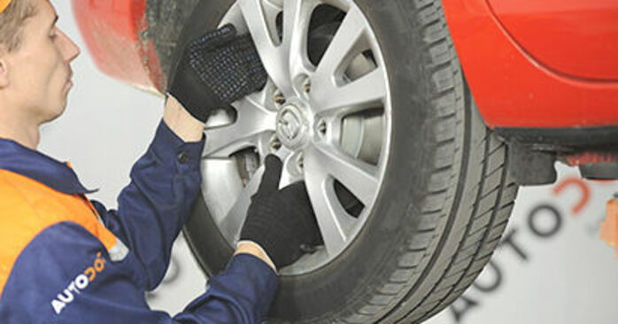 How to replace MAZDA 3 (BK) 1.6 2004 Wheel Bearing - step-by-step manuals and video guides