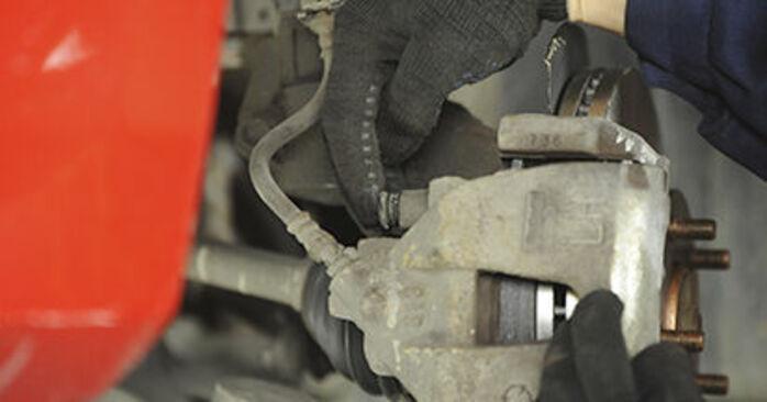 Wymiana Mazda 3 bk 1.6 DI Turbo 2005 Klocki Hamulcowe: darmowe instrukcje warsztatowe