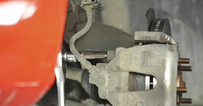 Jak trudno jest to zrobić samemu: wymień Klocki Hamulcowe w Mazda 3 bk 1.6 MZ-CD 2009 - pobierz ilustrowany przewodnik