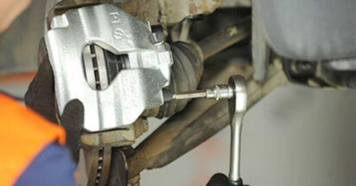 Schritt-für-Schritt-Anleitung zum selbstständigen Wechsel von VW T5 Pritsche 2003 2.0 TDI 4motion Bremssattel