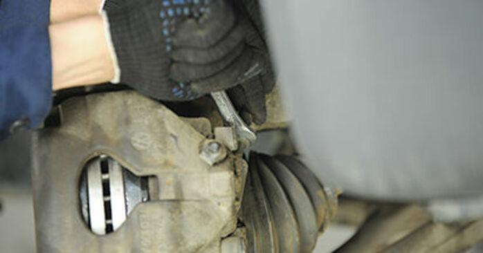 Wechseln Bremssattel am VW Transporter V Pritsche / Fahrgestell (7JD, 7JE, 7JL, 7JY, 7JZ, 7FD) 2.0 TDI 2006 selber