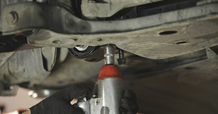 How to replace MAZDA 3 (BK) 1.6 2004 Control Arm - step-by-step manuals and video guides