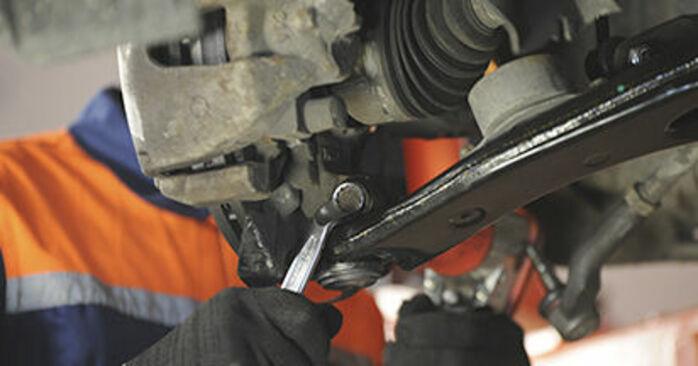 Mazda 3 bk 1.6 DI Turbo 2005 Control Arm replacement: free workshop manuals