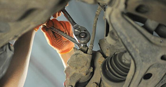 80 Sedan (8C2, B4) 2.3 E quattro 1994 Remblokken instructies voor doe-het-zelf vervangen