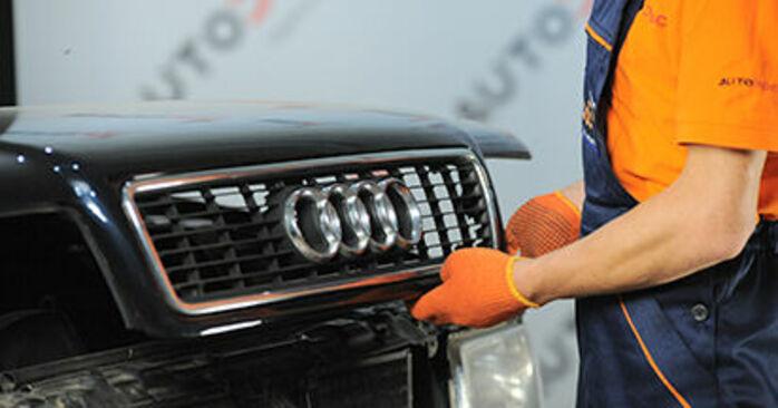 Πόσο διαρκεί η αντικατάσταση: Βάση Αμορτισέρ στο Audi 80 b4 1991 - ενημερωτικό εγχειρίδιο PDF