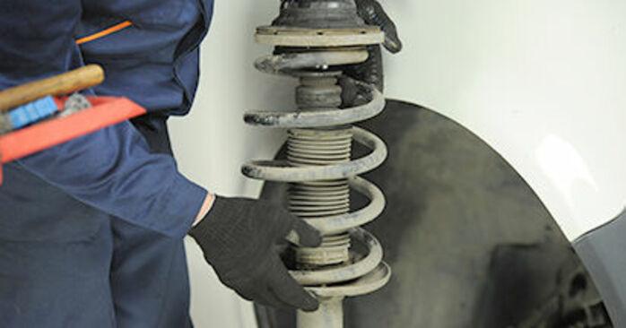 Combien de temps dure le remplacement : Coupelle d'Amortisseur sur VW T5 Сamion à Plateau 2011 - manuel PDF informatif
