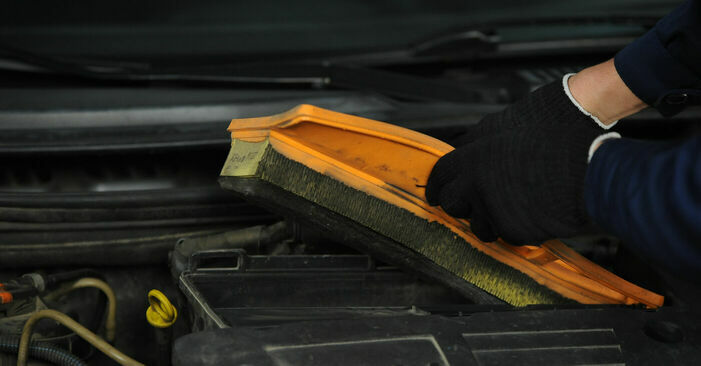 Luftfilter am FIAT PUNTO (188) 1.2 Natural Power 2004 wechseln – Laden Sie sich PDF-Handbücher und Videoanleitungen herunter