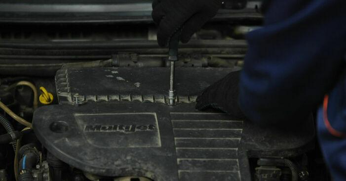 Luftfilter Ihres Fiat Punto 188 1.9 DS 60 2007 selbst Wechsel - Gratis Tutorial