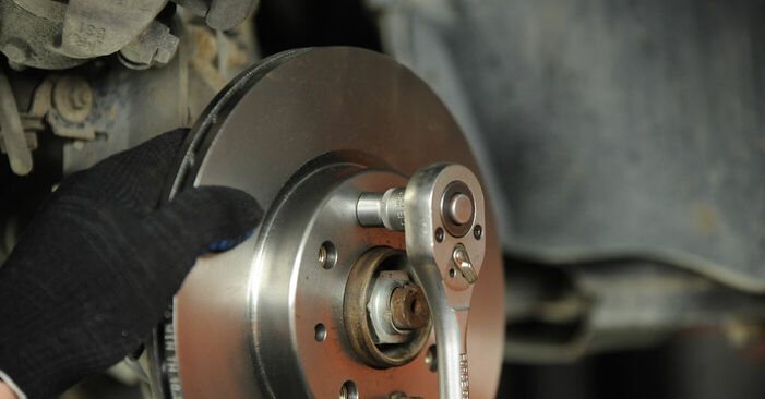 How to remove FIAT PUNTO 1.9 JTD 2003 Brake Discs - online easy-to-follow instructions