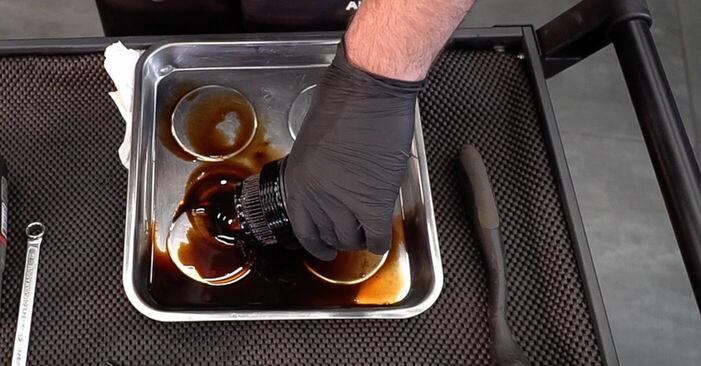 Austauschen Anleitung Ölfilter am Fiat 500 312 2017 1.2 selbst