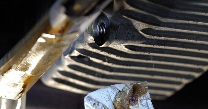 Wie Ölfilter FIAT 500 (312) 1.3 D Multijet 2008 austauschen - Schrittweise Handbücher und Videoanleitungen