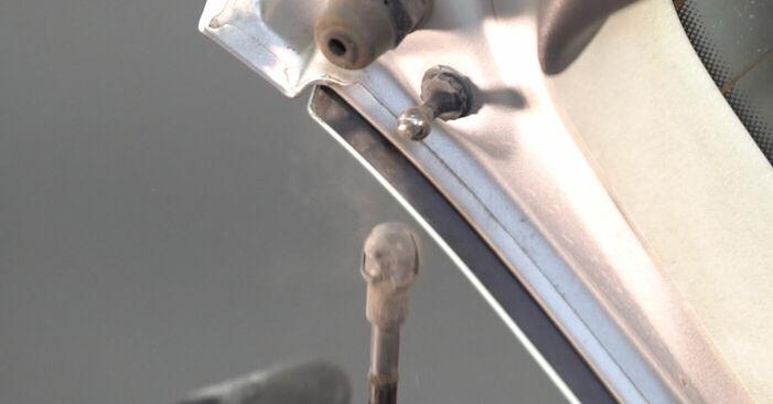 Wie VW POLO 1.9 TDI 2005 Heckklappendämpfer ausbauen - Einfach zu verstehende Anleitungen online