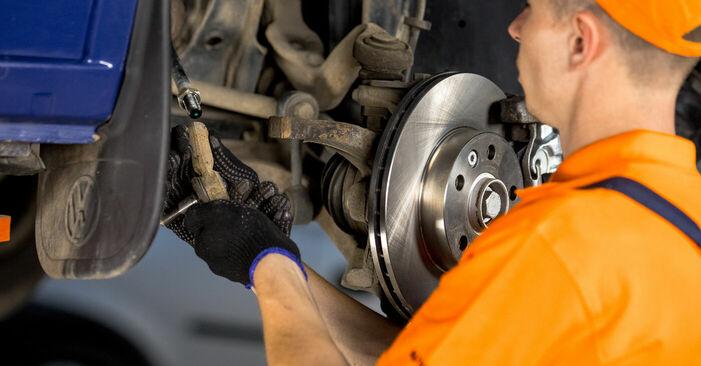 VW TRANSPORTER 2.5 Spurstangenkopf ausbauen: Anweisungen und Video-Tutorials online