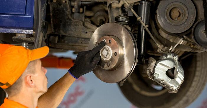 Wie schwer ist es, selbst zu reparieren: Radlager VW TRANSPORTER IV Bus (70XB, 70XC, 7DB, 7DW) 2.5 TDI 1996 Tausch - Downloaden Sie sich illustrierte Anleitungen