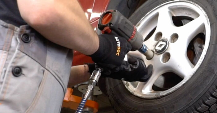 How to remove RENAULT TWINGO 1.2 1997 Brake Discs - online easy-to-follow instructions