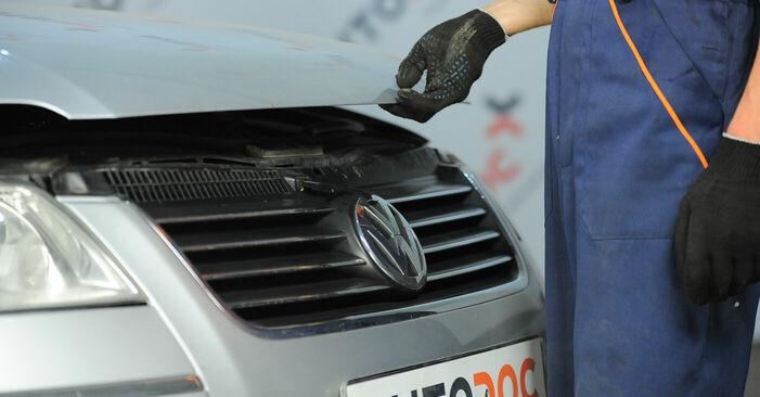 Πώς να αντικαταστήσετε Βάση Αμορτισέρ σε VW PASSAT Variant (3B6) 2005: κατεβάστε εγχειρίδια PDF και βίντεο οδηγιών