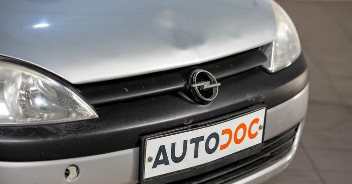 Como trocar Vela de Ignição no Opel Corsa C 2000 - manuais gratuitos em PDF e vídeo