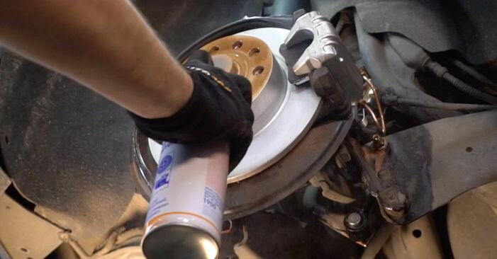 VW POLO 2008 Radlager Stufenweise Anleitung zum Austausch
