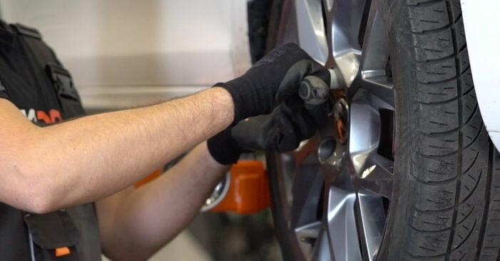 Wie man VW GOLF 1.4 2008 Bremsscheiben wechselt - Einfach nachzuvollziehende Tutorials online