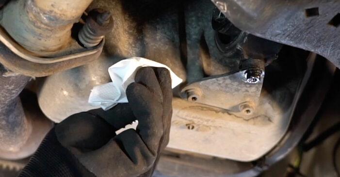 Peugeot 206 cc 2d 2.0 S16 2000 Filtre à Huile remplacement : manuels d'atelier gratuits