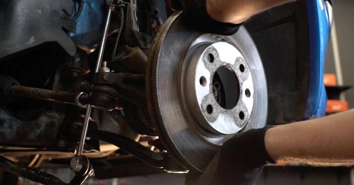 Jak vyměnit Brzdovy kotouc na Peugeot 206 cc 2d 1998 - bezplatné PDF a video návody