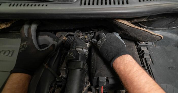 Wie schwer ist es, selbst zu reparieren: Bremsbeläge Touran 1t3 2.0 TDI 2010 Tausch - Downloaden Sie sich illustrierte Anleitungen