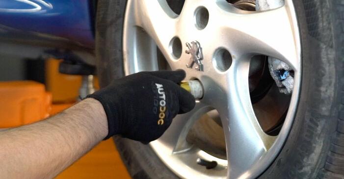 Bremsbeläge am PEUGEOT 206 CC (2D) 2.0 S16 2003 wechseln – Laden Sie sich PDF-Handbücher und Videoanleitungen herunter