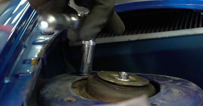Wie schwer ist es, selbst zu reparieren: Stoßdämpfer Peugeot 206 cc 2d 1.6 HDi 110 2006 Tausch - Downloaden Sie sich illustrierte Anleitungen