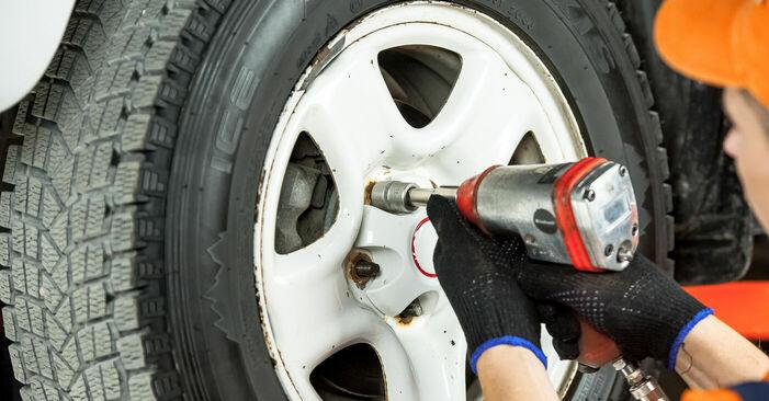 Como remover TOYOTA RAV4 2.4 4WD 2004 Pastilhas De Travão - instruções online fáceis de seguir