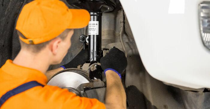 Come rimuovere TOYOTA RAV4 2.4 4WD 2004 Ammortizzatori - istruzioni online facili da seguire