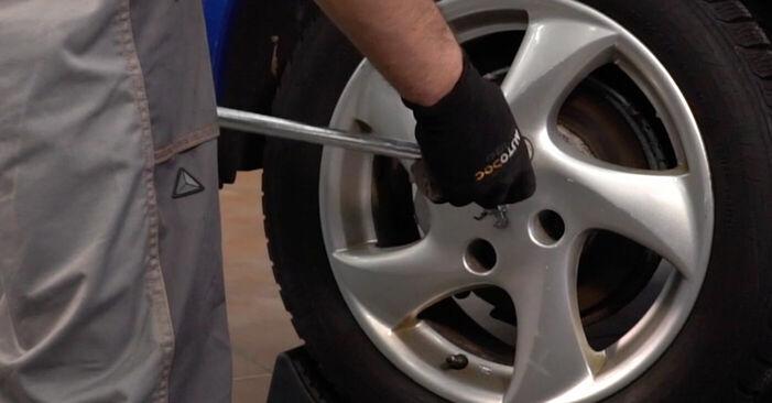 Peugeot 206 cc 2d 2.0 S16 2000 Brzdovy kotouc výměna: bezplatné návody z naší dílny