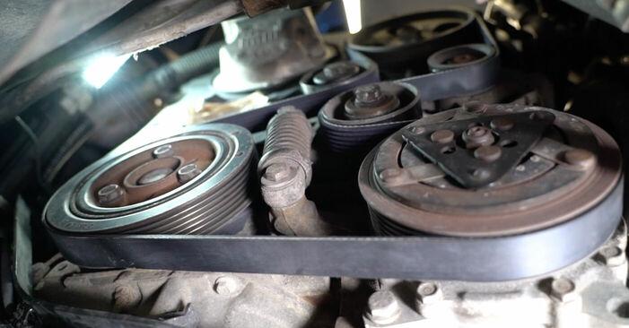 Wie schwer ist es, selbst zu reparieren: Keilrippenriemen Peugeot 206 cc 2d 1.6 HDi 110 2004 Tausch - Downloaden Sie sich illustrierte Anleitungen