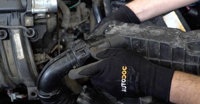 Schritt-für-Schritt-Anleitung zum selbstständigen Wechsel von Renault Kangoo kc01 2010 1.2 16V Luftfilter