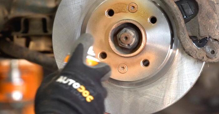 Renault Kangoo kc01 1.4 1999 Disques De Frein remplacement : manuels d'atelier gratuits