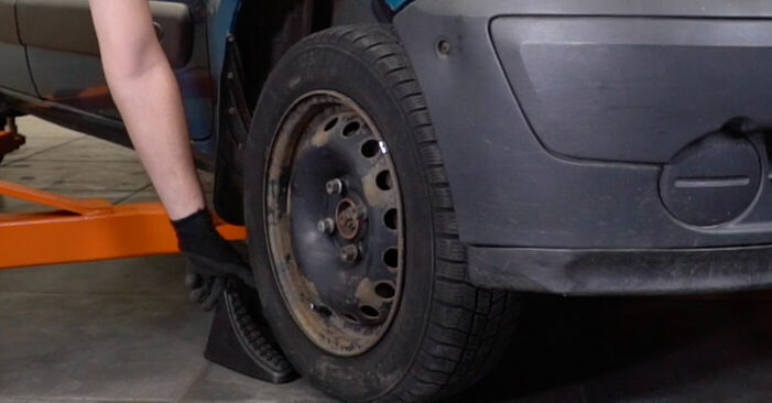 Bremsbeläge Ihres Renault Kangoo kc01 D 65 1.9 2005 selbst Wechsel - Gratis Tutorial