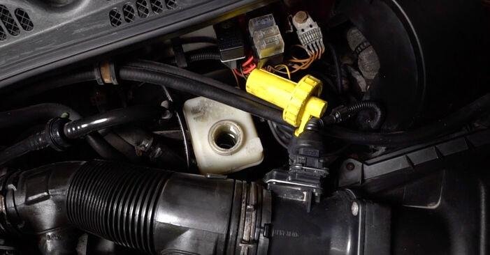 Wie schmierig ist es, selber zu reparieren: Bremsscheiben beim Audi A3 8l1 1.9 TDI 2002 wechseln – Downloaden Sie sich Bildanleitungen