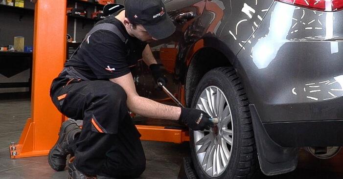Jak vyměnit FIAT BRAVO II (198) 1.9 D Multijet 2007 Lozisko kola - návody a video tutoriály krok po kroku.