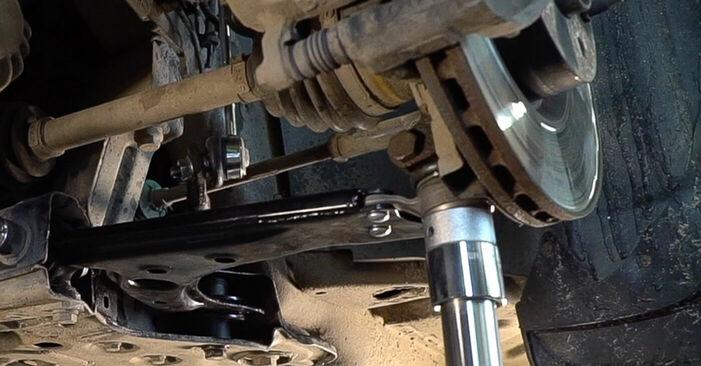 FIAT BRAVA 2013 Draagarm stapsgewijze handleiding voor vervanging