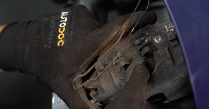 Opel Astra g f48 1999 1.7 DTI 16V (F08, F48) Fékbetét csináld magad csere - javaslatok lépésről lépésre