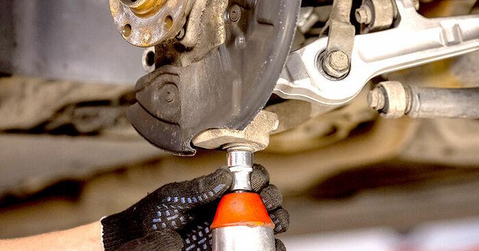 Kiek užtrunka keitimas: Audi A4 b6 2003 Rato guolis - informatyvi PDF instrukcija