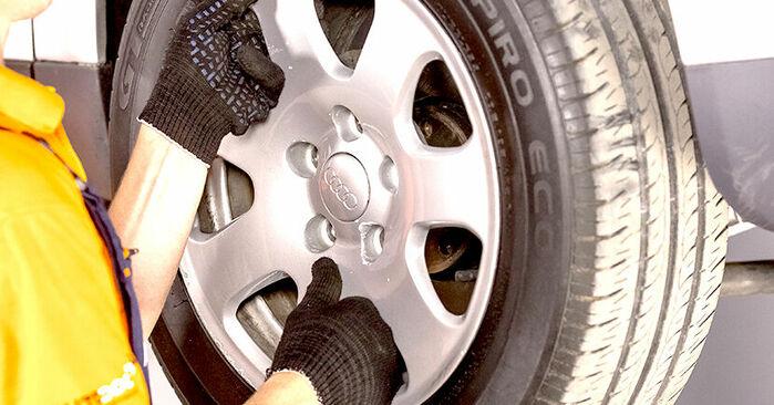 Kaip pakeisti AUDI A4 Sedanas (8E2, B6) 1.9 TDI 2001 Rato guolis - išsamios instrukcijos ir vaizdo pamokos