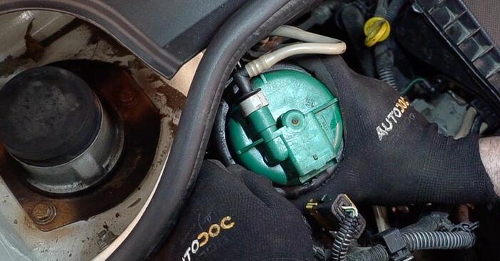 Austauschen Anleitung Kraftstofffilter am Fiat Doblo Cargo 2011 1.9 JTD selbst