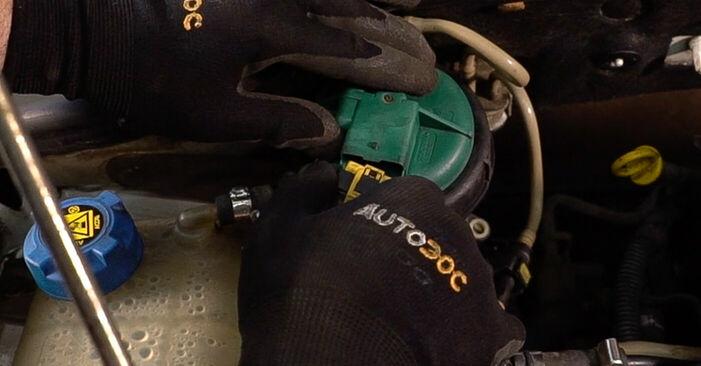 Kraftstofffilter Fiat Doblo Cargo 1.9 D 2003 wechseln: Kostenlose Reparaturhandbücher