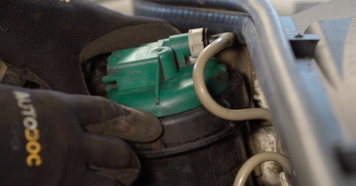 Wechseln Kraftstofffilter am FIAT DOBLO Cargo (223) 1.6 Natural Power 2004 selber