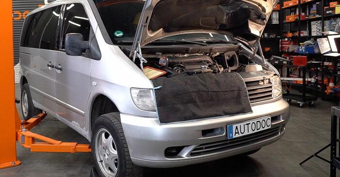 Mercedes W638 Minibus 108 CDI 2.2 (638.194) 1998 Anti Roll Bar Links replacement: free workshop manuals